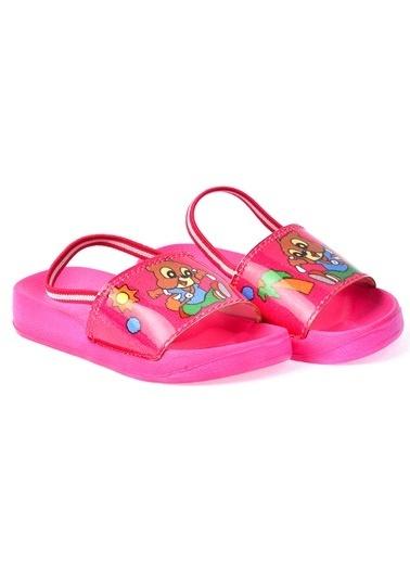 Kiko Kids Kiko Akn E405.084 Plaj Havuz Kız Çocuk Sandalet Terlik Fuşya